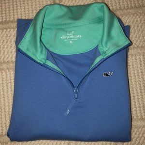 Vineyard Vines Cotton Quarter Zip Sweater
